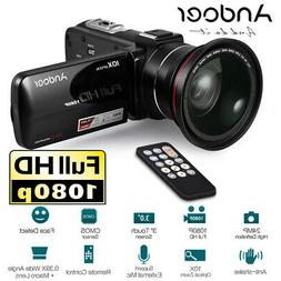1080P Full HD 24MP Digital Video Camera Camcorder W/ 0.45X W