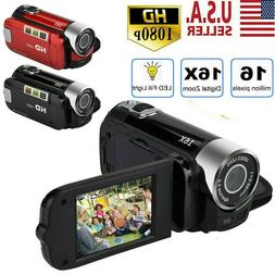 1080P HD Camcorder Digital Video Camera TFT LCD 16MP 16x Zoo