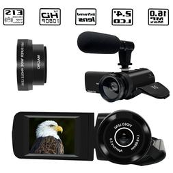 1080P HD Camcorder Digital Video DV Camera 16X Zoom with Mic