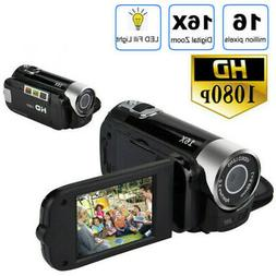 1080P HD Video Camera Digital Video Camera TFT LCD 16X Zoom