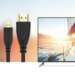 PwrON 1080P HDMI AV HD TV Video Cable Cord for Sony Handycam