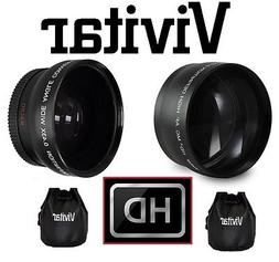 2PC LENS PRO HD 2x TELEPHOTO & WIDE ANGLE LENS SET FOR SONY