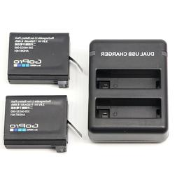 2 x Genuine Original AHDBT-401 battery+Charger For Gopro Her