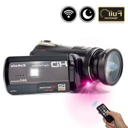 2018 Wifi Full Spectrum Camcorder, 1080P Full HD 30FPS Infra