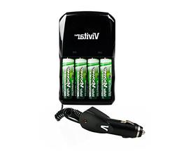 2950MAH AA NIMH Rechargeable Batteries + 110V/220V Rapid Hom