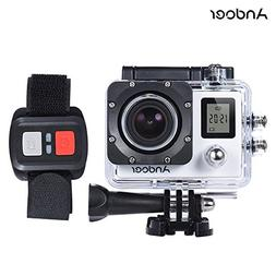 Andoer 4K 30fps/1080P 60fps Full HD 16MP Action Camera Water