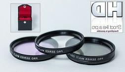 3PC HD FILTER SET FOR PANASONIC 14-50mm LENS UV C-PL FL-D