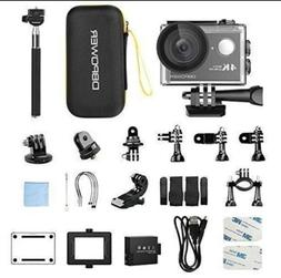 DBPOWER 4K Action Camera 12MP Ultra HD Waterproof Sports Cam