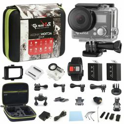 4K Action Camera Dual Screen Ultra HD 16MP Camcorder + Remot