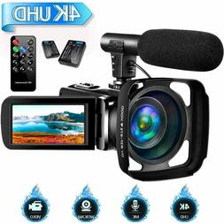 4K Camcorder Video Camera for YouTube, Vlogging Camera with