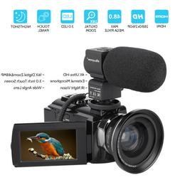 Professional Video Camera 4K Ultra HD 48MP Digital Camcorder