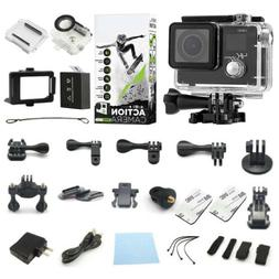 4K Sports Action Camera Dual Screen Ultra HD DV 16MP Camcord