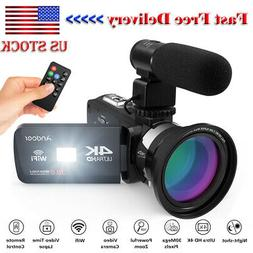 Andoer 4K Ultra HD WiFi Digital Video Camera Camcorder DV Re