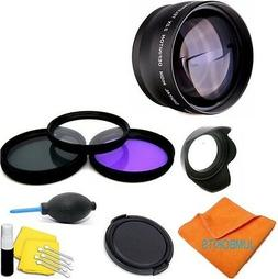 52MM UV/CPL/FLD HD FILTER KIT +ACCESSORIES FOR NIKON DSLR D3