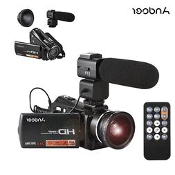 Andoer HD 1080P 24MP Digital Video DV Camera Camcorder+Mic+0