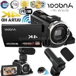 Andoer ULTRA HD WiFi 1080P 4K 48MP Digital Video Camera Camc
