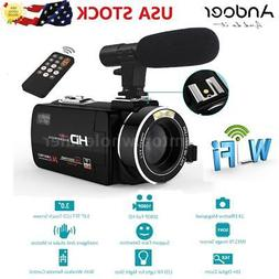 Andoer WiFi IPS HD 1080P 24MP Digital Video Camera Camcorder