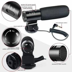 Camera Microphone Besteker Camcorder Mic Professional Stereo