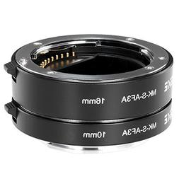 Neewer Metal AF Auto-Focus Macro Extension Tube Set 10mm&16m