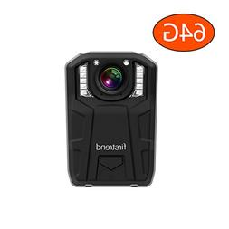 Firstrend 1296P HD Body Camera, 6000mAh High Capacity Polic