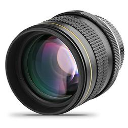 Opteka 85mm f/1.8 Aspherical Telephoto Portrait Lens for Nik