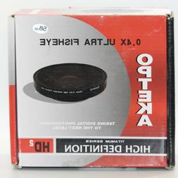 Opteka OPT-724PF 72mm 0.4X HD2 Large Element Fisheye Lens fo