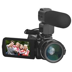 Sicanal Video Camera, Full HD 1080P 30FPS Portable Digital H