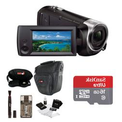 Sony HDR-CX440/B Full HD Video Handycam Camcorder w/Sony 16G
