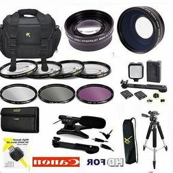 58MM PRO HD ACCESSORIES KIT LENSES TRIPOD LIGHT FILTERS  FOR