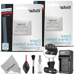 Vivitar NB-6L / NB-6LH Battery and Charger Kit for CANON Pow