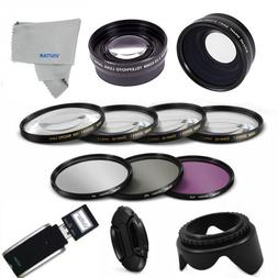 WIDE ANGLE + TELEPHOTO 52MM HD Lens  Filter Set  Accessories