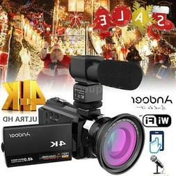 WiFi 4K ULTRA HD 1080P 48MP Digital Video Camera Camcorder R