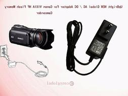 AC Adapter Charger For Canon VIXIA MiniDV Full HD Camcorder