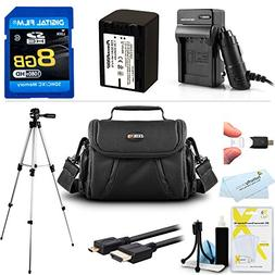 8GB Accessory Kit For Sony HDR-PJ650V HD Camcorder Includes