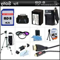 8GB Accessory Kit For Sony HDR-PJ790V Handycam HD Camcorder