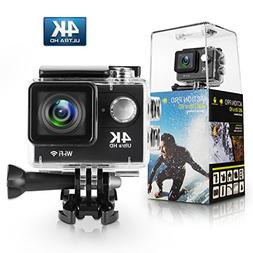 Action Camera,Bekhic 4K WiFi Ultra HD Waterproof DV Camcorde
