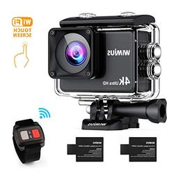 WiMiUS 4K Sports Action Camera Touchscreen HD 16MP Underwate