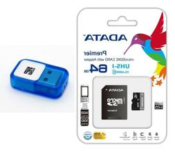 Adata 64GB MICRO SD XC SDXC MEMORY CARD CLASS 10 FOR GO PRO