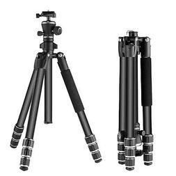 "Neewer Aluminum Alloy 56"" Camera Travel Tripod with 360 Degr"