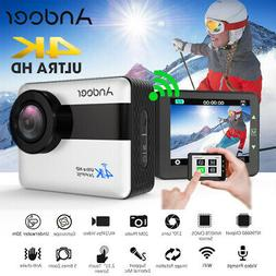 Andoer AN1 4K WiFi Sports Action Camera 1080P Full HD 20MP 2