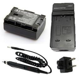 Battery Charger for JVC Everio GZ-E10AU, GZ-E10BU, GZ-E10RU,