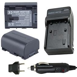 Battery  and Charger for JVC Everio GZ-EX250, GZ-EX250B, GZ-