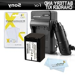 Battery And Charger Kit For Sony HDR-CX220 HDR-CX230 HDR-CX2