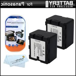 2 Pack Battery Kit For Panasonic HC-X920, HC-X920M, HC-X900M