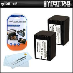2 Pack Battery Kit For Sony HDR-CX380, HDR-CX380/B HD Camcor