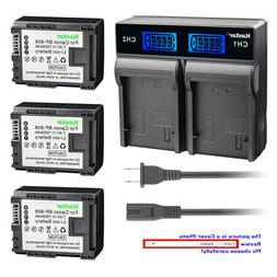Kastar Battery LCD Rapid Charger for Canon BP-808 & Canon XA