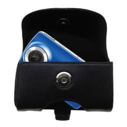 Black Leather Case for Philips CAM100 HD Camcorder