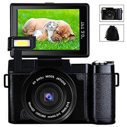 Digital Camera Camcorder Full HD Video Camera 1080p 24.0MP 3