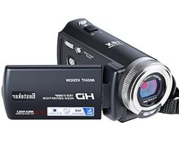 Camcorder,Besteker IR Night Vision 16X HD 1080P Video Camera