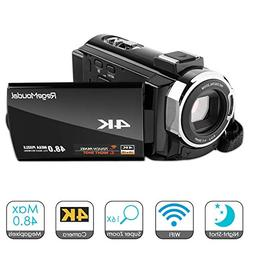 4k Camcorder,Regemoudal 1080P Video Camera Camcorder 128GB